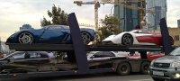 Marussia B2 неожиданная встреча на автовозе (Фотографии)