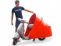 Гараж - ракушка для скутера