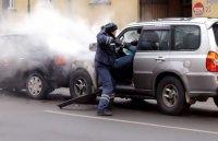 Нетрезвый водитель на джипе Хендэ Терракан протаранил машины в Москве